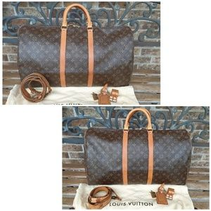 Louis Vuitton Bandouliere Keepall 55/Lock N Key